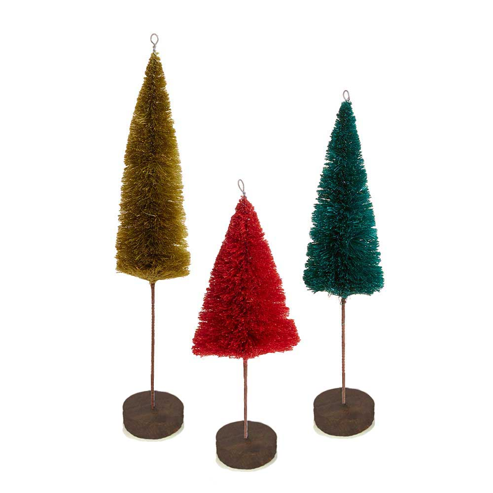 Abaca Winter Tree Set