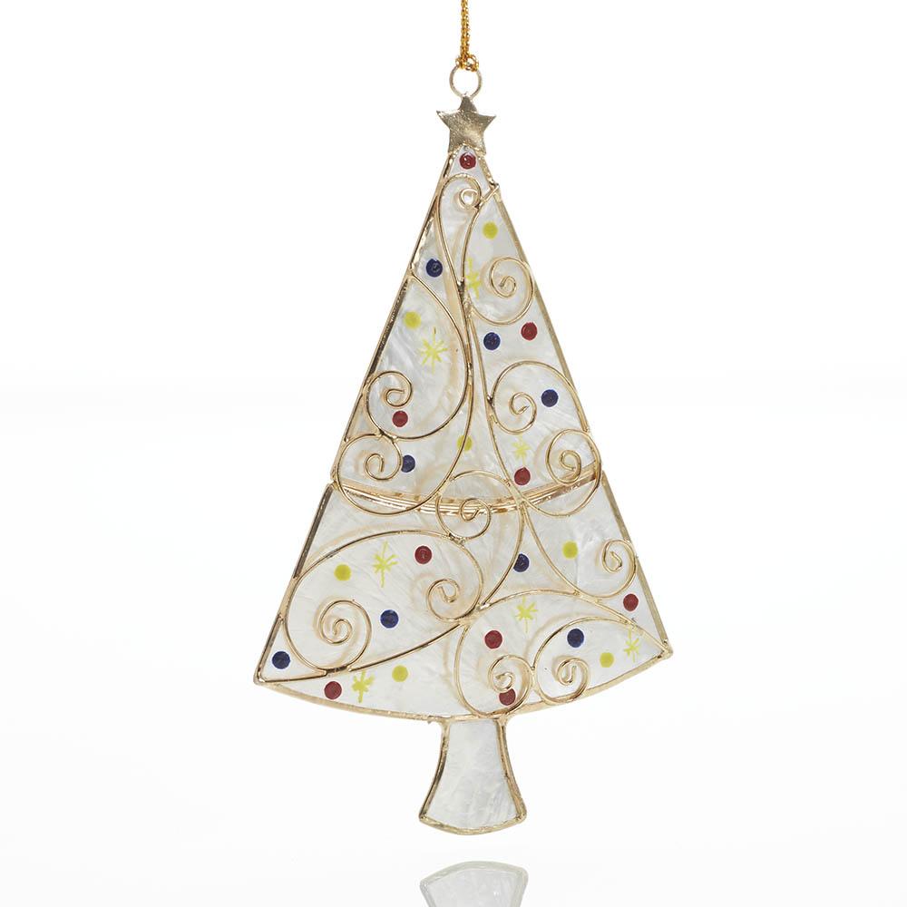 Capiz Christmas Tree Ornament