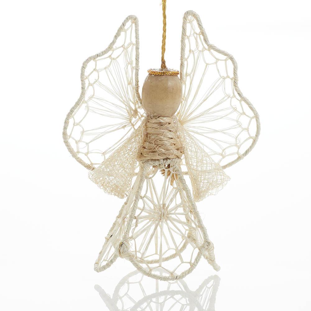 Macrame Angel Ornament
