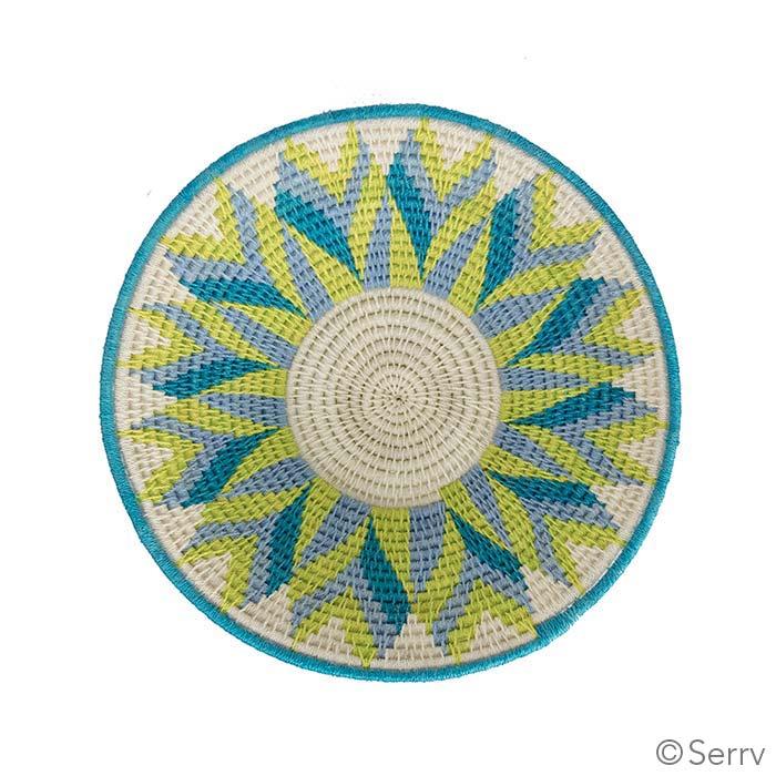 Small Green and Teal Tintsaba Basket