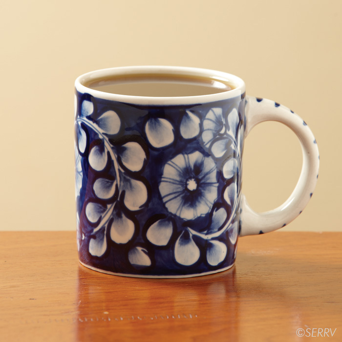 Cobalt Flower Mug