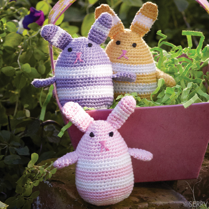 Crocheted Egg Bunnies