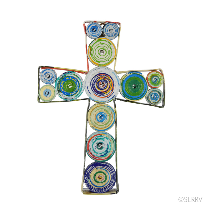 Small Recycled Paper Wall Cross