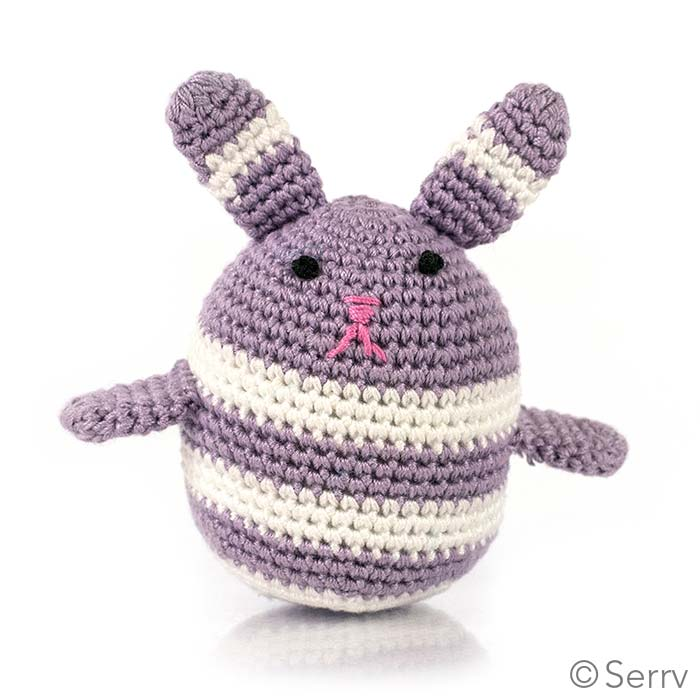 Striped Purple Egg Bunny