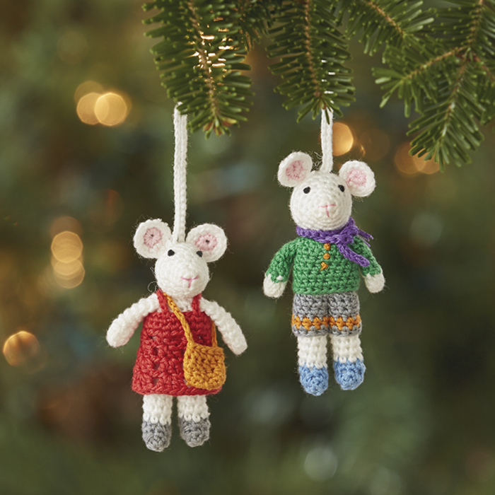 Christmas Mice Ornament Set