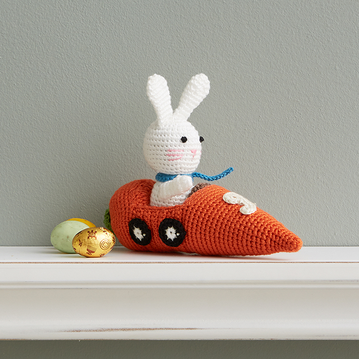 Crocheted Racer Bunny #9