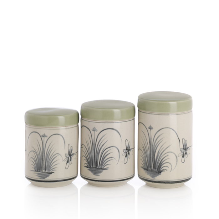 Dragonfly Set of 3 Canisters