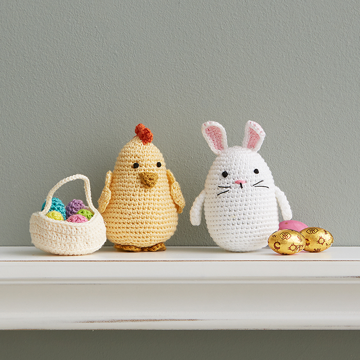 Crocheted Easter Bunny & Chick