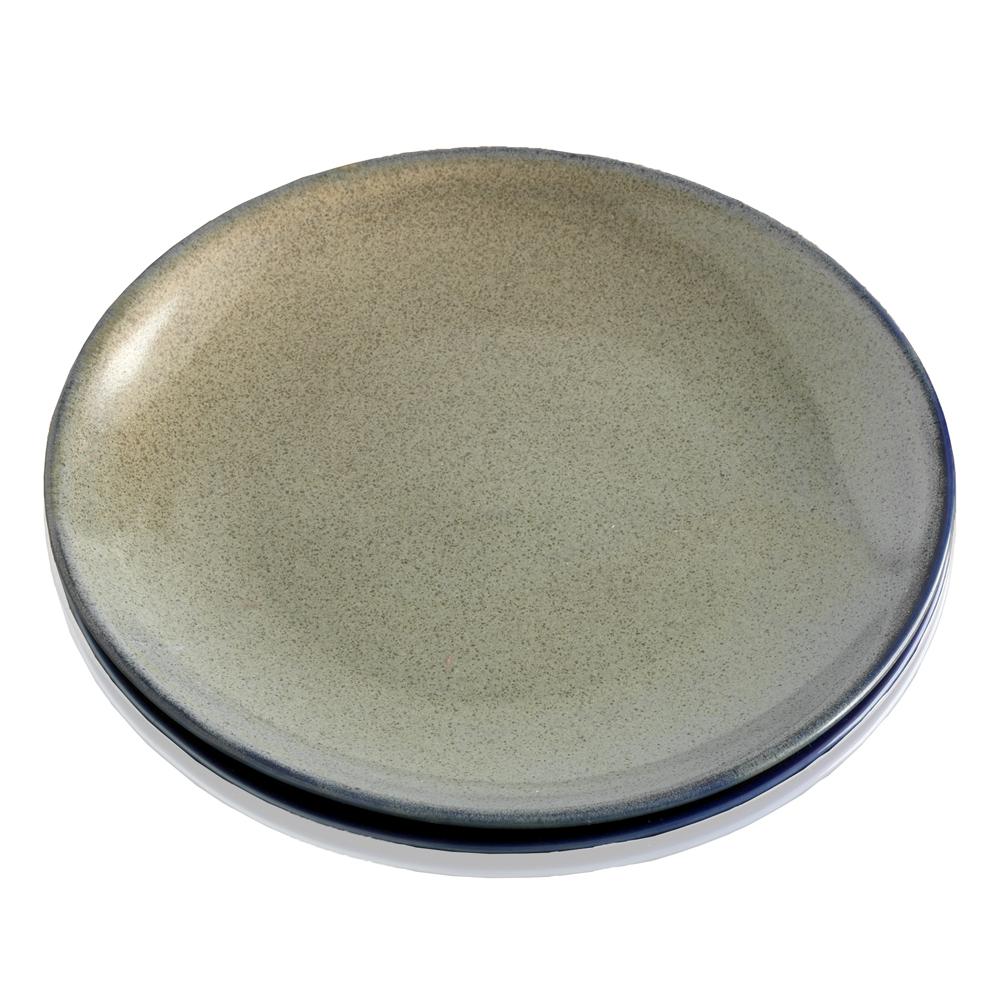 Farmhouse Dessert Plates Set - Speckled Sage