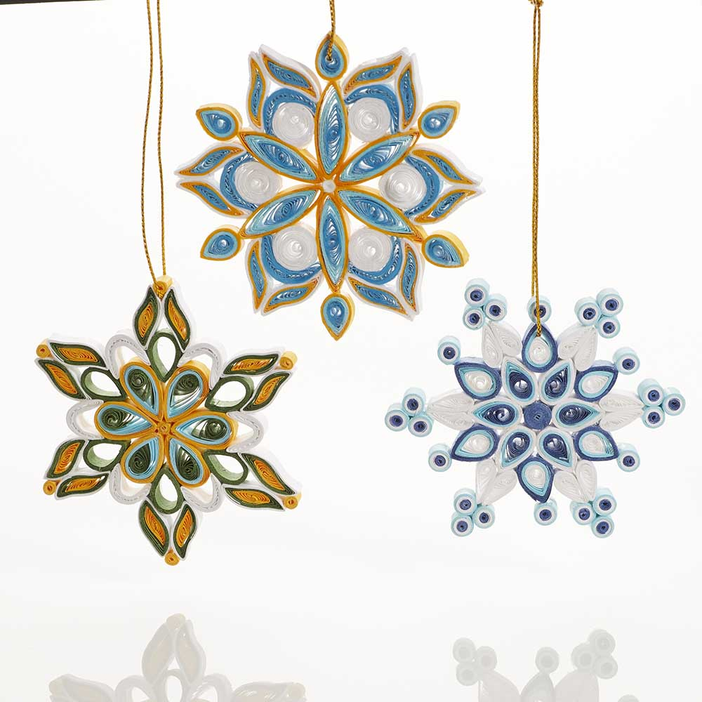 Quilled Snowflake Ornaments Set