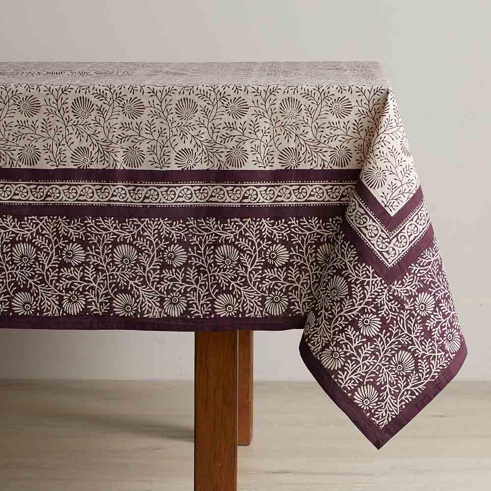 Aubergine Wildflower Tablecloths