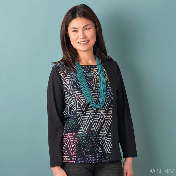 Artisan Jersey Shirt - Batik Chevron