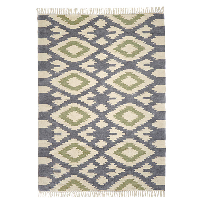Cotton Chenille Diamond Rug