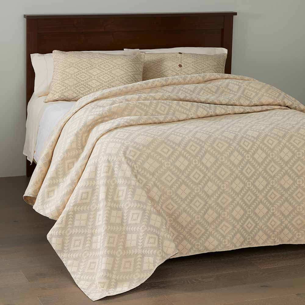 Egyptian Cotton Brocade Bedding - Dove Gray