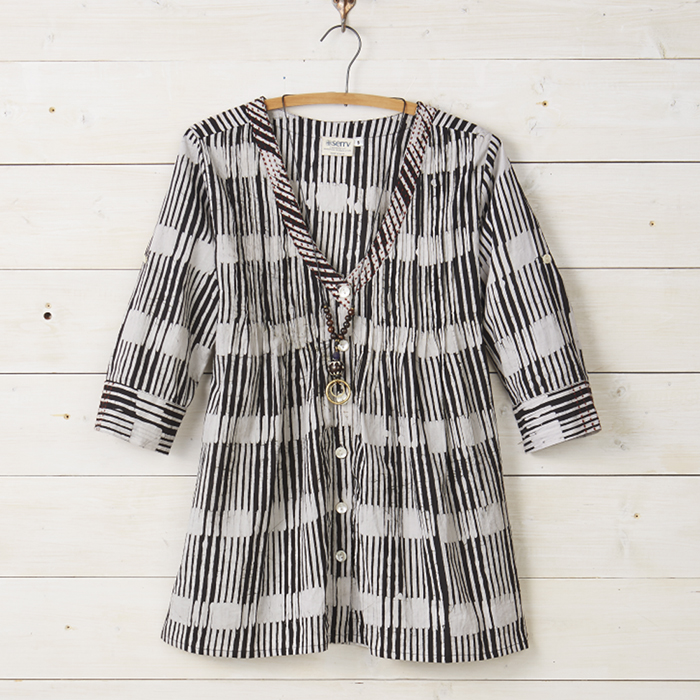Black & White Stripe Favorite Tunic