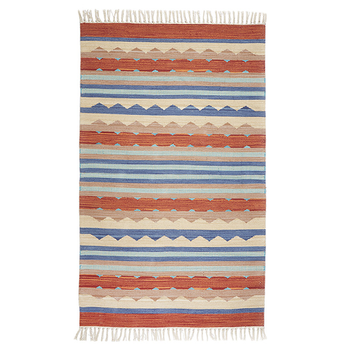 Kilim Rugs - Orange & Blue