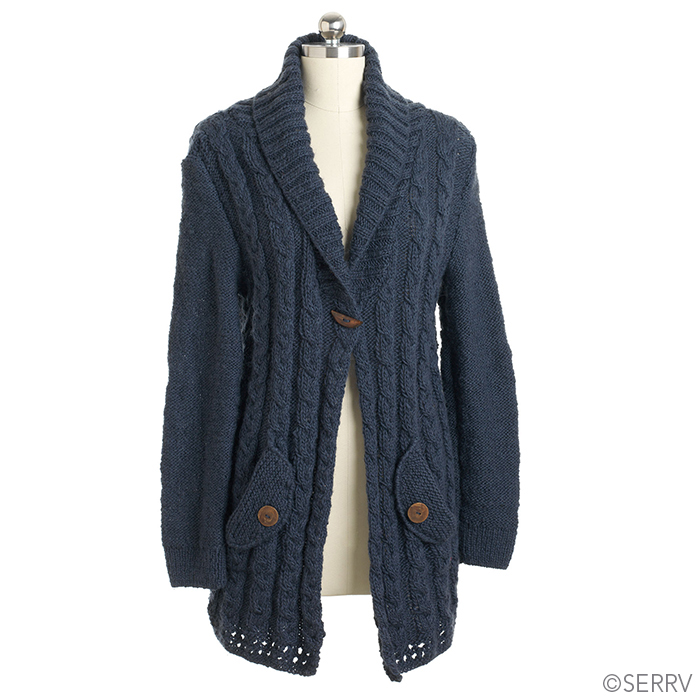 Wool Cardigan - Blue
