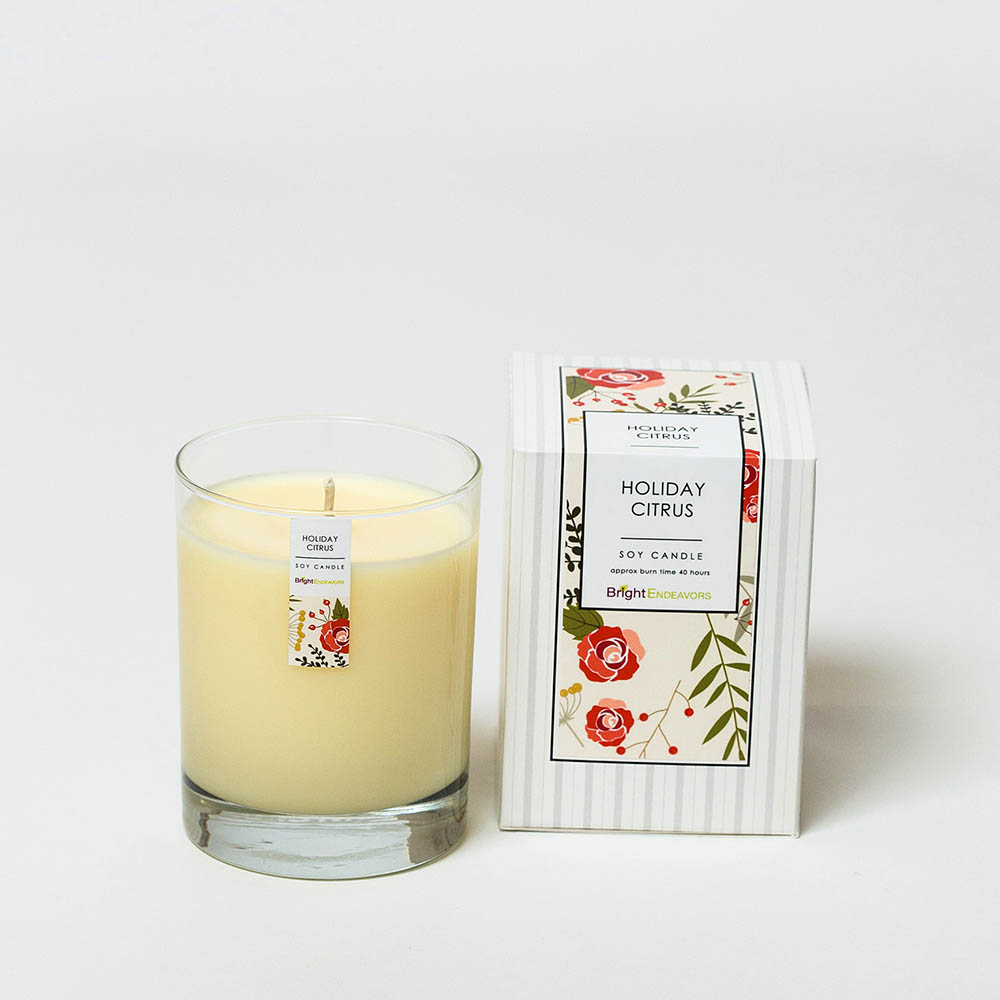 Holiday Citrus Candles