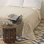 egyptian brocade cotton bedcover