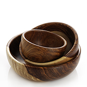 Shesham Bowl Set