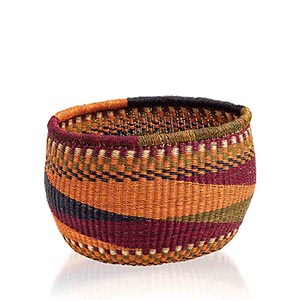 Orange & Magenta Ghana Basket