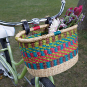 Bright Stripe Bolgatanga Bike Basket