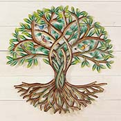 Rooted Leafy Tree Wall Art