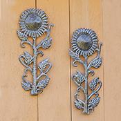 Set of 2 Small Sunflowers Wall Art
