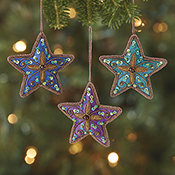 Zari Star Ornament Set