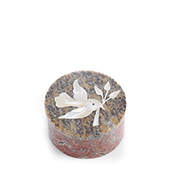 White Dove Inlay Stone Box