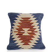 Agra Kilim Orange Burst Pillow