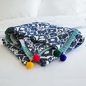 reversible ikat and sari bedcover