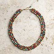 Sari Triple Strand Necklace