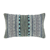 blue green kilim lumbar pillow