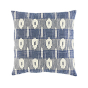 Blue & White Ikat Accent Pillow