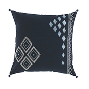 Embroidered Diamond Accent Pillow