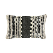 Black & Natural Kilim Lumbar Pillow
