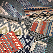 cotton chenille diamond rug dove blue