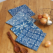 Indigo Dabu Print Set of 4 Napkins