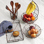 wire mesh tray with swing handles