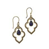 Quatrefoil Lapis Drop Earrings