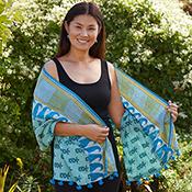 pack of 6 kantha scarves