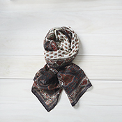 Autumn Paisley Wool Scarf