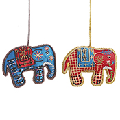 Indian Elephant Ornament Set