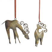 Parent & Child Reindeer Ornament Set
