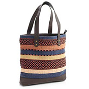 Striped Carpet Tote