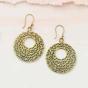 Round Lattice Earrings