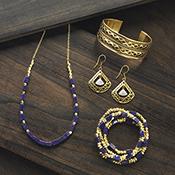 moonstone fan earrings alt