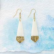 Brass Tip Earrings