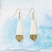 brass tip earrings
